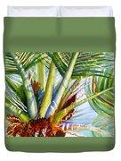 Sunlit Palm Fronds Duvet Cover