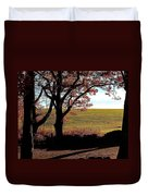 Sunlit Pasture At Moore State Park Duvet Cover