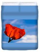 Sunlit Poppy Duvet Cover