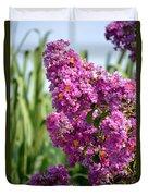Sunlit Purple Crepe Mertle Duvet Cover