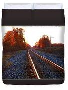 Sunlit Tracks Duvet Cover