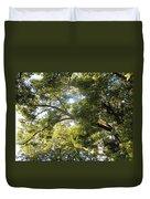 Sunlit Tree Tops Duvet Cover