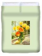 Sunlit Tulips Duvet Cover