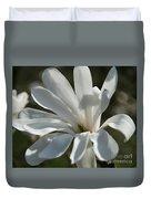 Sunlit White Magnolia Duvet Cover