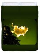 Sunlit Yellow Cloud Duvet Cover