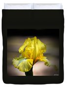 Sunlit Yellow Iris Duvet Cover