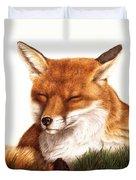 Sunnin' Red Fox Duvet Cover