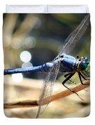 Sunning Blue Dragonfly Square Duvet Cover