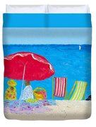 Sunny Afternoon At The Beach Duvet Cover