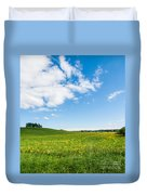Sunny Day At The Fields Of Gold Duvet Cover