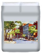 Sunny Day Cafe Duvet Cover