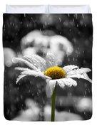 Sunny Disposition Despite Showers Duvet Cover