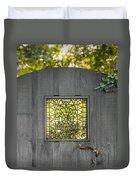 Sunny Garden Gate In Charleston Duvet Cover