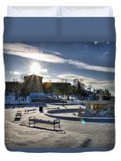 Sunny In The Snow Duvet Cover