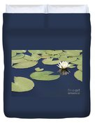 Sunny Lily Pond Duvet Cover