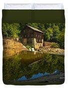 Sunny Refelctions In Slippery Rock Creek Duvet Cover