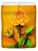 Sunny Rose Duvet Cover