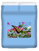 Sunny Tiger Swallowtail  Duvet Cover