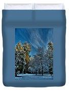 Sunny Winter Day Duvet Cover