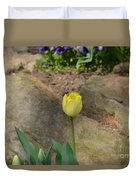 Sunny Yellow Tulips Series  Picture B Duvet Cover