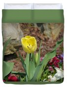 Sunny Yellow Tulips Series  Picture C Duvet Cover
