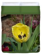 Sunny Yellow Tulips Series  Picture D Duvet Cover