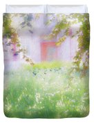 Sunpainting At The Park Duvet Cover