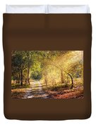 Sunray In The Autumn Forest Duvet Cover