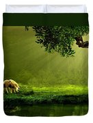 Sunrays In An Ireland Sheep Pasture  Duvet Cover