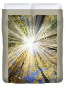 Sunrays In The Forest Duvet Cover