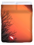 Sunrise And Hibernating Tree Duvet Cover