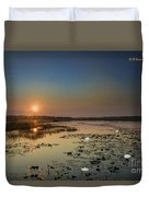 Sunrise And Water Lilies Duvet Cover