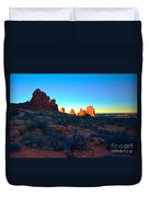 Sunrise At Arches National Park Duvet Cover