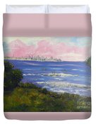 Sunrise At Burliegh Heads Duvet Cover