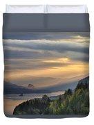 Sunrise At Columbia River Gorge Duvet Cover