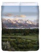 Sunrise At Grand Teton Duvet Cover