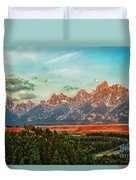 Sunrise At Grand Tetons Duvet Cover