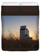 Grain Elevator At Sunrise Duvet Cover
