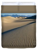 Sunrise At Mesquite Flat Sand Dunes Duvet Cover