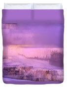 Sunrise At Minerva Springs Yellowstone National Park Duvet Cover