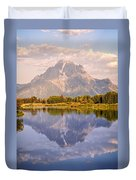 Sunrise At Oxbow Bend 2 Duvet Cover by Marty Koch