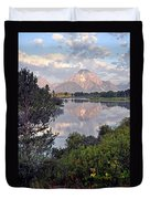 Sunrise At Oxbow Bend 3 Duvet Cover by Marty Koch
