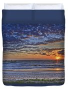 Sunrise At The Beach Duvet Cover