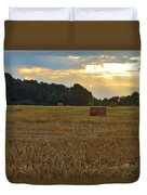 Sunrise At The Wheat Field Duvet Cover