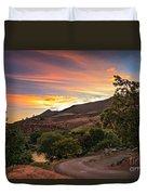 Sunrise At Woodhead Park Duvet Cover by Robert Bales