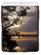 Sunrise At Yellowstone Lake Duvet Cover