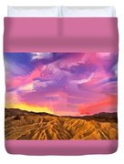 Sunrise At Zabriskie Point Duvet Cover