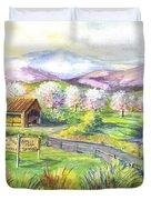 Sunrise Farm Stand Duvet Cover