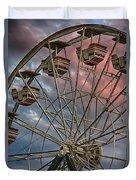 Sunrise Ferris Wheel Duvet Cover