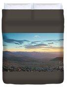Sunrise From Mt Sherman Panorama Duvet Cover